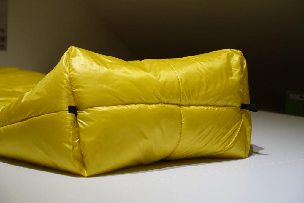 sleepingbag footend closeup